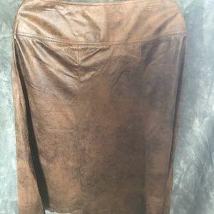 NWT Christopher&Banks midi brown skirt size 16!
